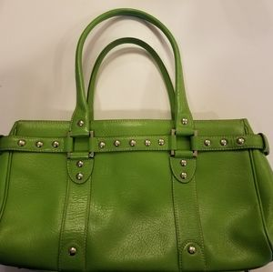 Nordstrom Leather Green Purse